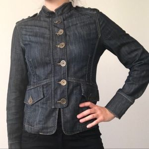 Massimo Dutti military denim/jean jacket